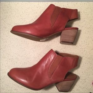 Lucky Brand Brown Sling Back Booties Size …